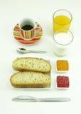 Healty-Frühstückszusammensetzung Stockbild