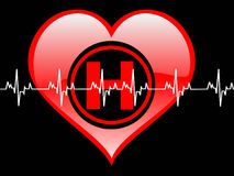 Healty heart. Healthy heart on dark abstract background Stock Photography