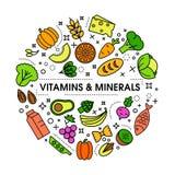 Healty-Lebensmittel-Hintergrunddarstellung Stockfotografie