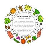 Healty-Lebensmittel-Hintergrunddarstellung Stockbild