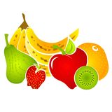 Healty Nahrungsmittelfrucht-Klipp-Kunst   stock abbildung