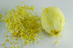 Healty organisches natürliches Gelb der frischen Frucht der Zitrone Lizenzfreie Stockfotografie
