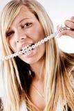 Healty peroliza os dentes Fotografia de Stock Royalty Free