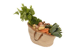 Healty winter food: basket full of vedgetables Royalty Free Stock Photo