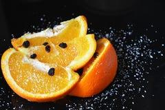 Healty y naranjas jugosas Fotos de archivo libres de regalías