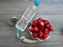 Healty życie potrzebuje dieta plan zdjęcie stock