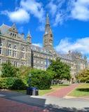 Healy Hall bij de Universiteit van Georgetown in Washington DC stock afbeeldingen