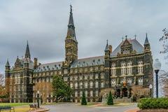 Healy Hall, bij de Universiteit van Georgetown, in Washington, gelijkstroom royalty-vrije stock afbeelding