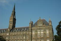 Healy Hall und der Glockenturm Stockbilder