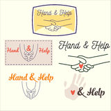 Heand and help set Stock Photo