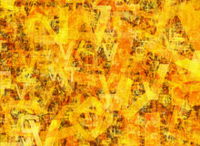 Heap of abstract chaotic alphabet letters Stock Images