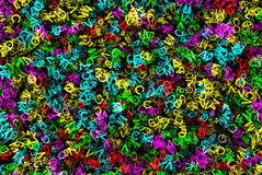 Heap of abstract multicolored flying alphabet letters Stock Image