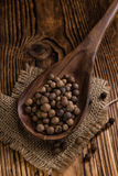 Heap of Allspice (selective focus) Royalty Free Stock Image