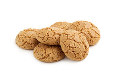 Heap of almond cookies stock photos