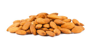 Heap of almond nuts royalty free stock image