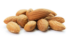 Heap of almonds Stock Photo