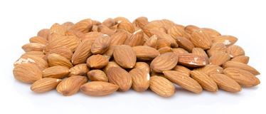 Heap of almonds Stock Image
