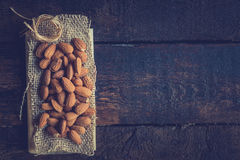 Heap of almonds Stock Images