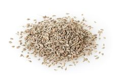 Heap of anise seeds isolated on white Royalty Free Stock Photos