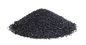 Heap of anthracite isolated Royalty Free Stock Image