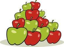 Heap of apples. Vector illustration of heap of apples vector illustration