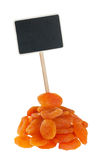 Heap of apricot with a pointer for your text Royalty Free Stock Images