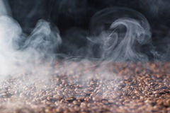 Heap of aromatic roasted coffee beans Stock Photography
