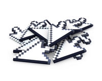 Heap of arrow cursors Stock Image