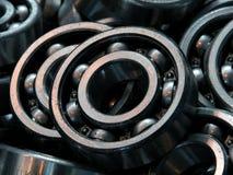 Ball bearing background. Heap of a ball bearing background close up Stock Image