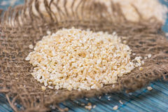 Heap of barley groats Royalty Free Stock Image