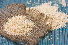 Heap of barley groats Stock Photography