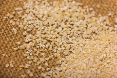 Heap of barley groats Royalty Free Stock Images