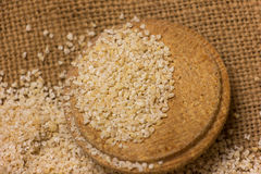 Heap of barley groats Stock Images