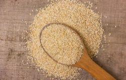 Heap of barley groats Royalty Free Stock Photography
