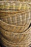 Heap baskets. Heap of large baskets texture Royalty Free Stock Photos