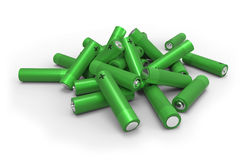 Heap of batteries Stock Photography