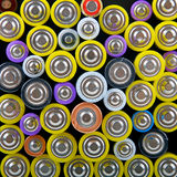 Heap with batteries Royalty Free Stock Image