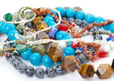 Heap of beads royalty free stock photo