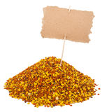 Heap of bee pollen with a pointer Royalty Free Stock Image
