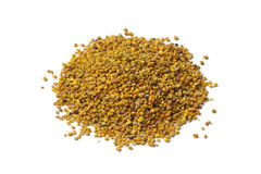 Heap of bee pollen. On white background stock images