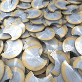 Heap of Bitten Off Euro coins Royalty Free Stock Photos