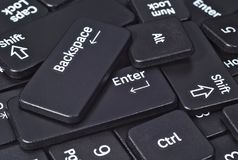 Heap of keyboard buttons closeup Royalty Free Stock Image