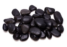 Heap of black pebbles Royalty Free Stock Photo