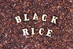 Heap of black rice as background, healthy gluten free food concept Stock Images