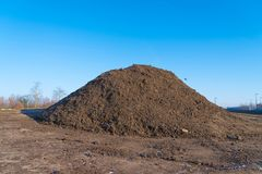 Heap of black sand Royalty Free Stock Photography