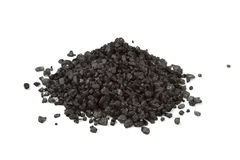 Heap of black sea salt royalty free stock images