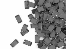 Heap of Black Smart Phones Stock Photo