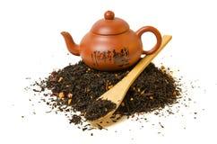 Heap of black tea Royalty Free Stock Image