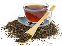 Heap of black tea Royalty Free Stock Images