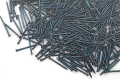Heap of  Blue Concrete nails Royalty Free Stock Photos